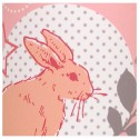 Lampadaire rose et gris Lovely Rabbit
