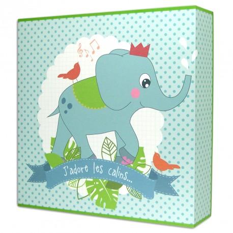 Toile lumineuse bébé elephant