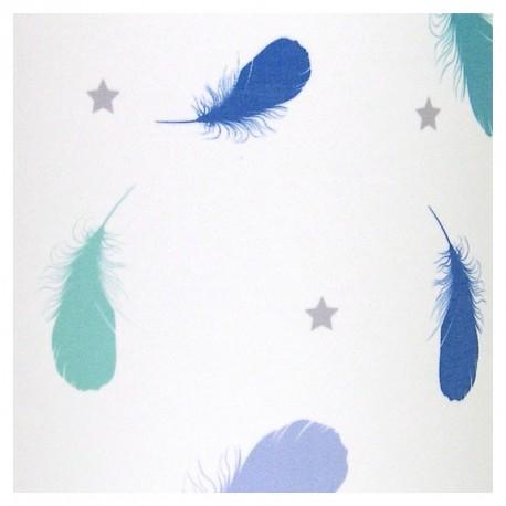 Tableau Lumineux enfant Plumes Bleu