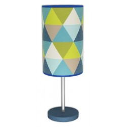 lampe design - Triangle Bleu
