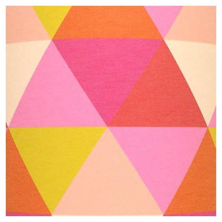 Tableau Lumineux enfant Triangle Rose
