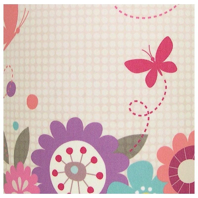 Applique murale papillon fuschia et fleurs multicolores - Applique murale tableau ...