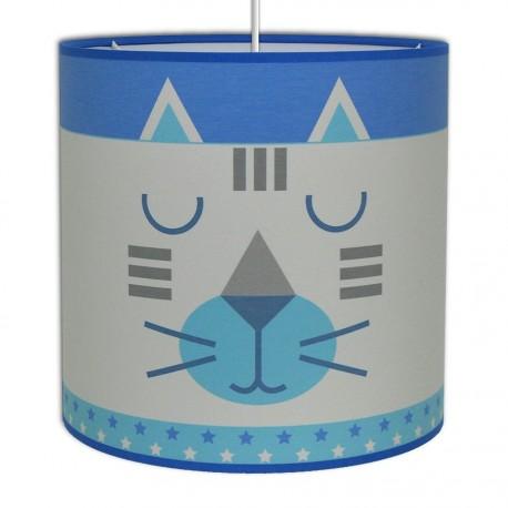 Suspension Chat bleu et gris