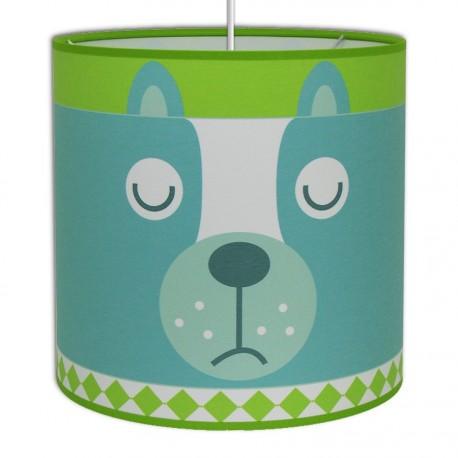 Dog bleu et anis pour chambre enfant