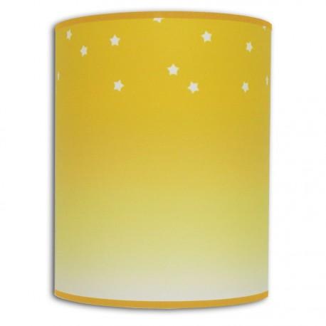 Applique murale jaune déco effet dégradé