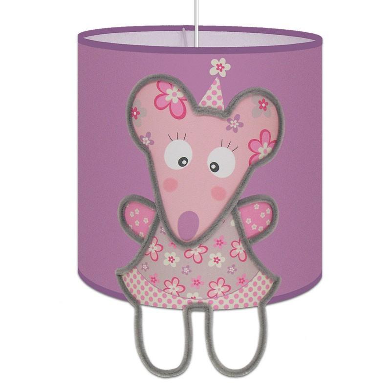 suspension emilie la souris fond parme pour chambre de petite fille. Black Bedroom Furniture Sets. Home Design Ideas
