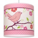 Suspension Oiseau rose et fuchsia