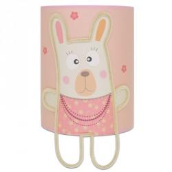 mon petit lapin rose lampe murale bébé chambre fille