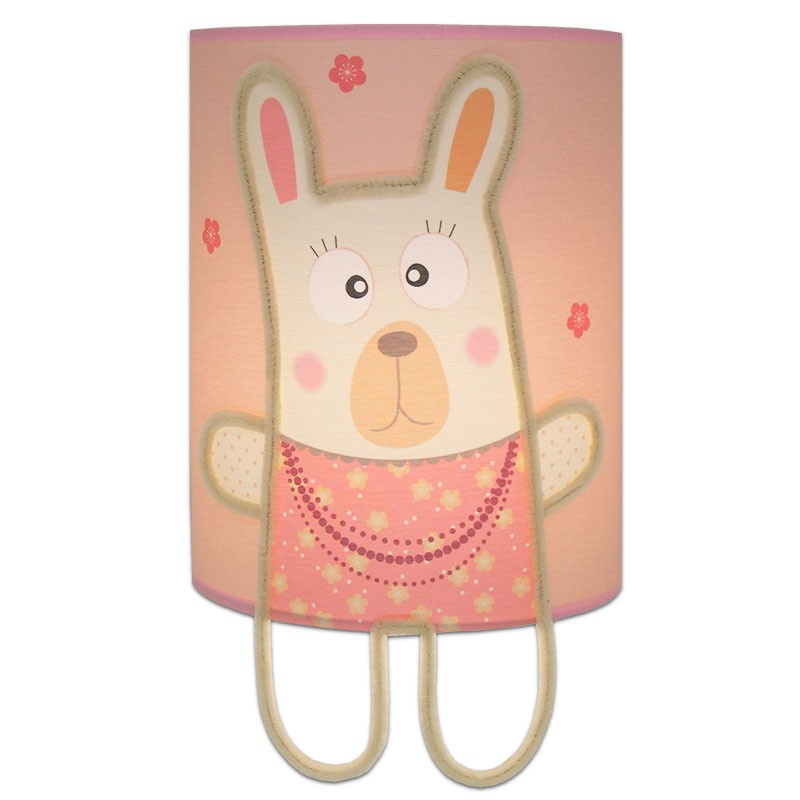 lampe enfant murale lapin couleur rose pour chambre b b fille. Black Bedroom Furniture Sets. Home Design Ideas