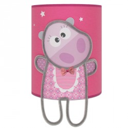 Margot l'hippo applique chambre de fille