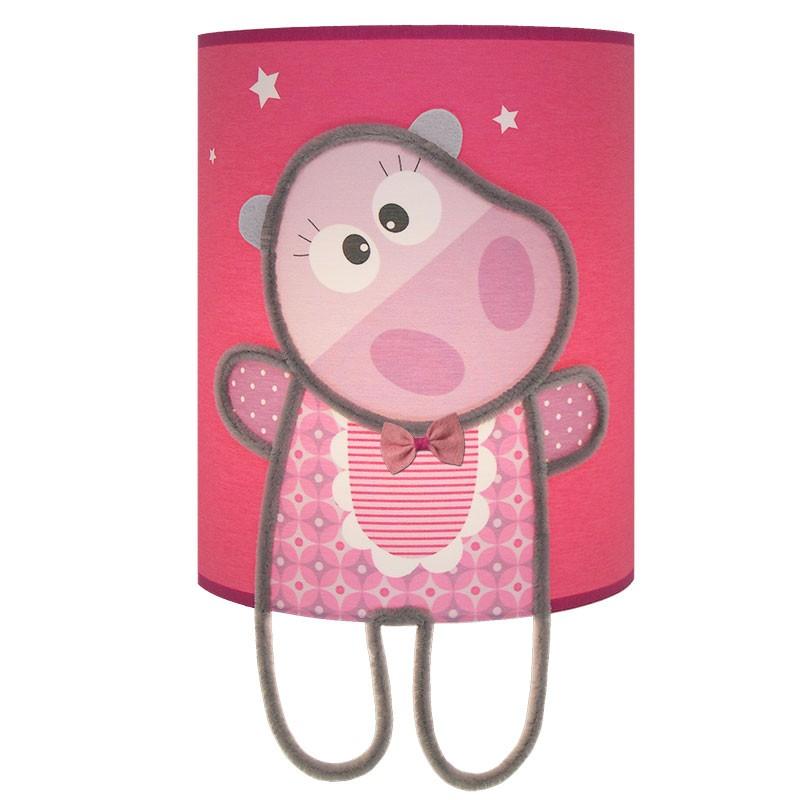 Applique Margot rose et fuschia pour décoration chambre bébé fille