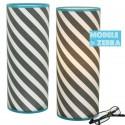 Lampe design noir et blanc Zebra