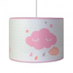 luminaire nuage rose ou bleu