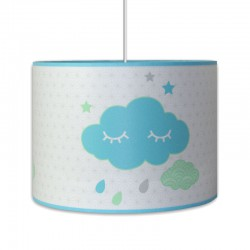 Suspension nuages bleu pour chambre garçon