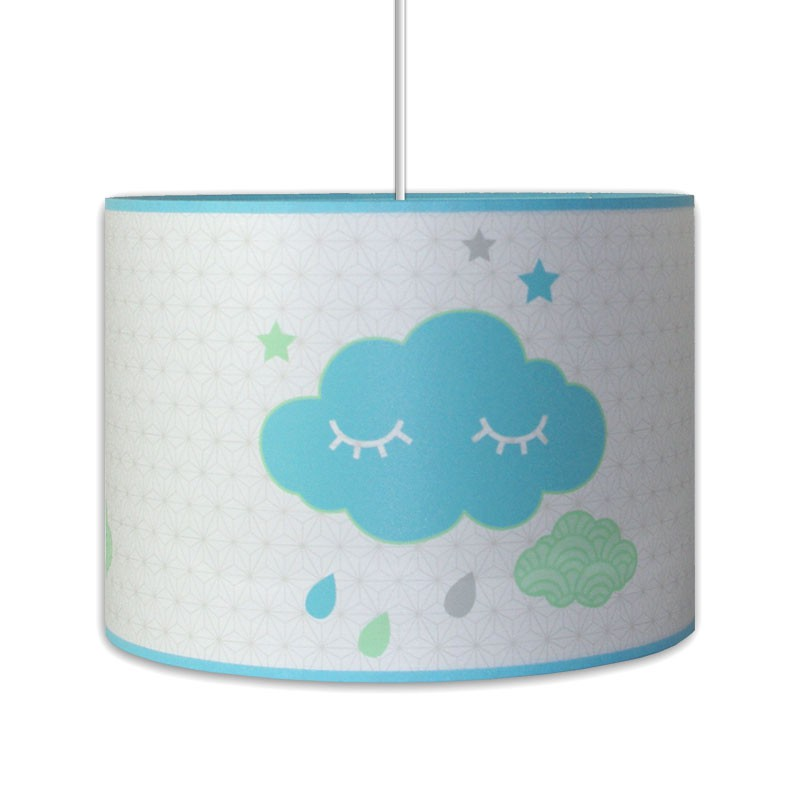 Suspension th me nuage bleu et blanc d coration chambre enfant for Suspension chambre