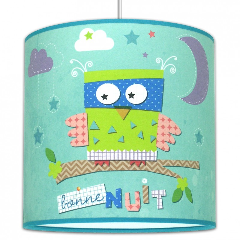 Suspension chambre fille c 39 chouette for Luminaire multi suspension colore enfant