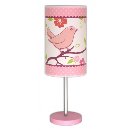 lampe de chevet oiseau luminaire d coratif pour chambre de fille. Black Bedroom Furniture Sets. Home Design Ideas