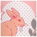 Lampadaire rose et gris Lovely Rabbit
