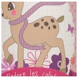 Lampadaire bébé chambre fille Bambi