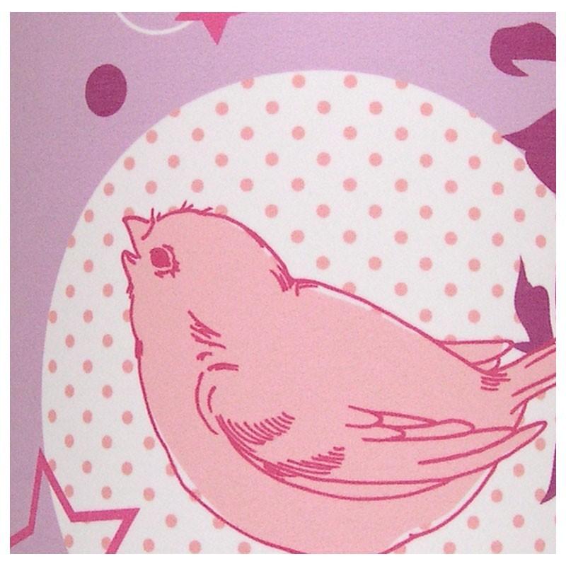Applique Lovely Bird Rose; Zoom Imprimé Lovely Bird; Lovely Bird Luminaire Chambre  Fille. Afficher Toutes Les Images