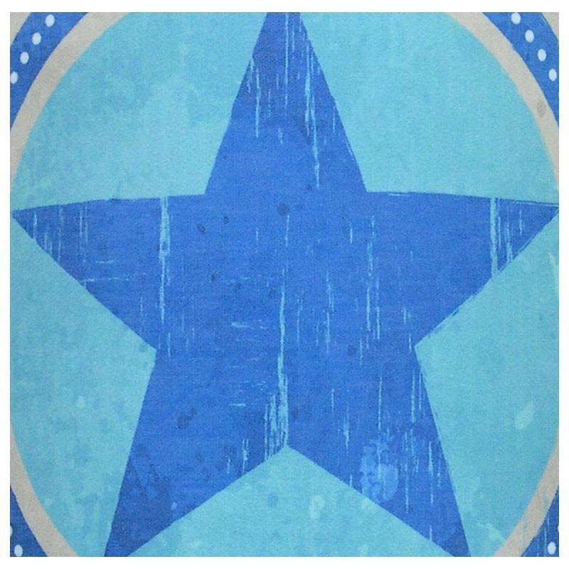 Applique chambre ado Star Boy étoile bleu sur fond gris
