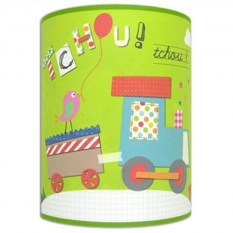 Applique murale chambre de petit garçon - Train - Tchou Tchou