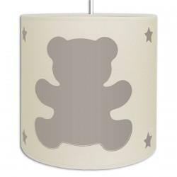 Suspension ours couleur Gris Lin pour chambre bébé