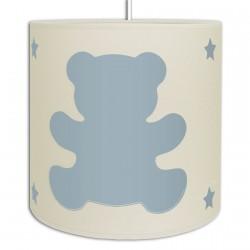 plafonnier oursons couleur Bleu pour garcon bebe