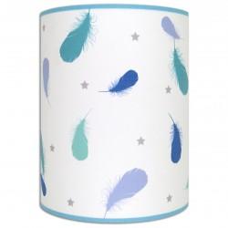 Plumes lampe murale bleu