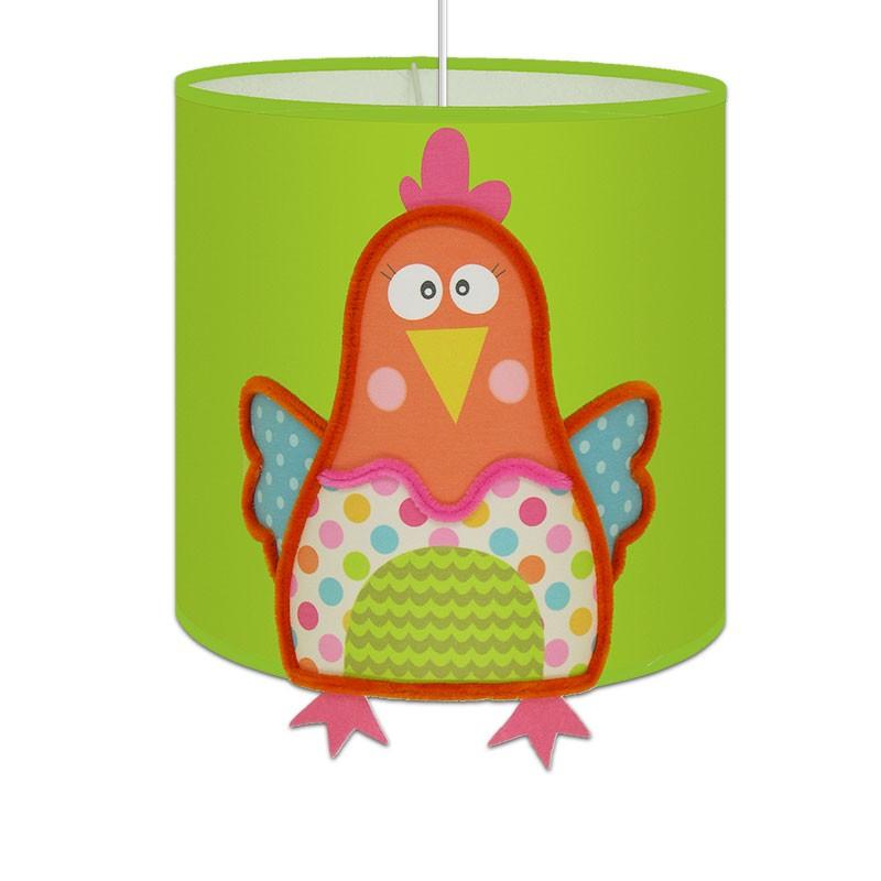 Lampe suspension vert anis louisette pour chambre enfant dynamique - Suspension chambre enfant ...