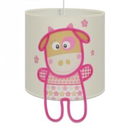 Plafonnier Rose la petite vache pour bébé fille