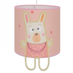 petit lapin rose et ivoire plafonnier déco chambre bébé fille