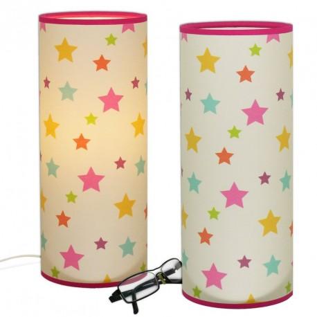 Lampe tube étoiles muticolore chambre bébé fille