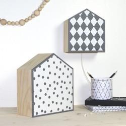 Lampe déco nordique Black and White