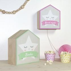 Etoile personnalisable lampe pour bébé