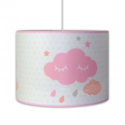 Luminaire bébé nuage rose