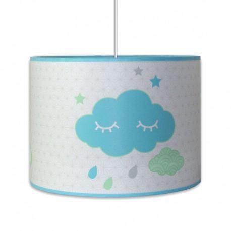 Suspension nuages bleu chambre bébé garçon