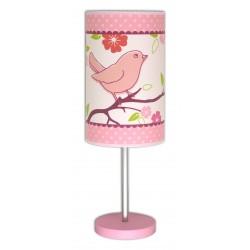 Lampe enfant rose - Oiseau