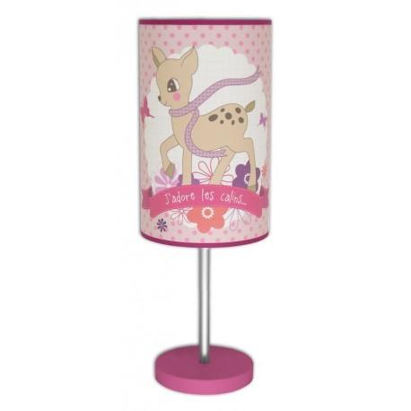 Lampe bébé rose et fuchsia - Bambi